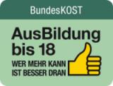 """Logo und Link zur """"Ausbildung bis 18"""" Seite der Bundeskost"""