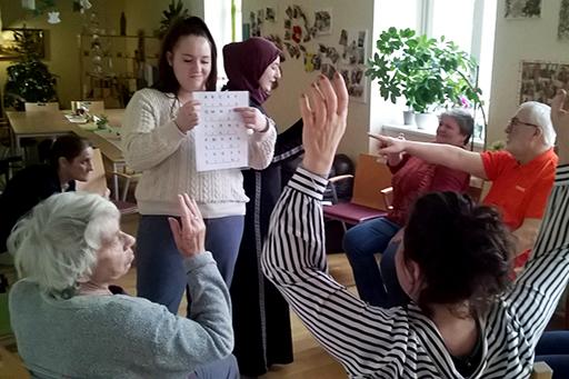 Produktionsschule bfi Steiermark meets Caritas